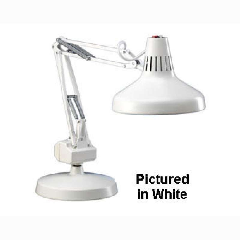 LC Series Incandescent / Fluorescent Combination Task Light, Black