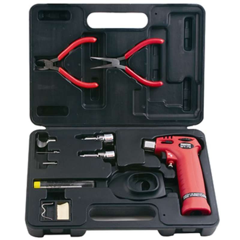 Professional Hand Held or Table Top Butane Trigger Torch, Soldering Iron, and Flameless Heat Tool Kit