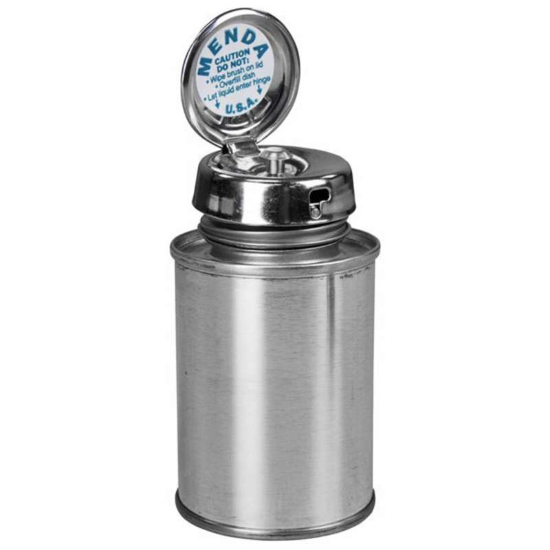 Pure-Take Tin Can Solvent Dispenser Bottle with Locking Pump, 4oz