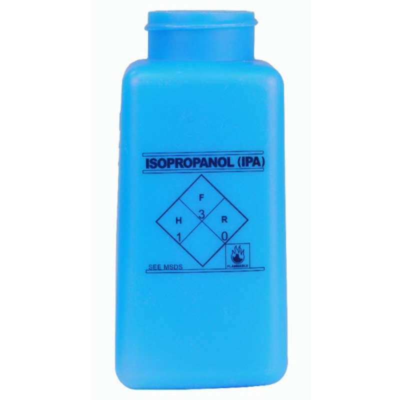 ESD-Safe Blue durAstatic™ Isopropyl Alcohol Solvent Dispenser Bottle without Lid, 8 oz