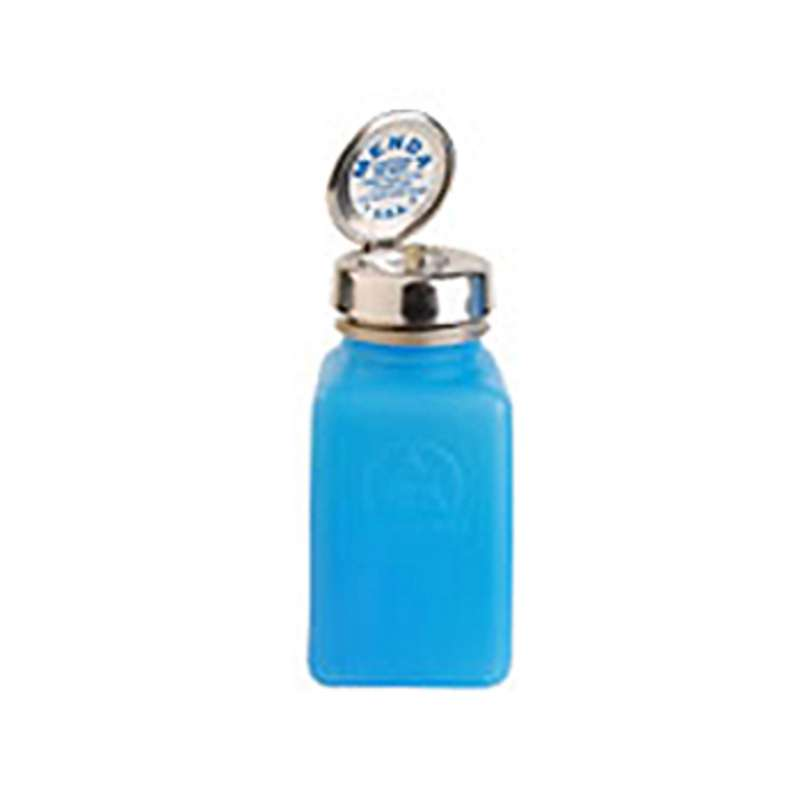 ESD-Safe Blue durAstatic™ Solvent Dispenser Bottle with Pure-Take Pump Top, 6 oz