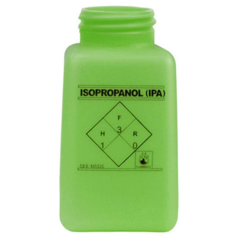 ESD-Safe Green durAstatic™ Isopropyl Alcohol Solvent Dispenser Bottle without Lid, 6 oz