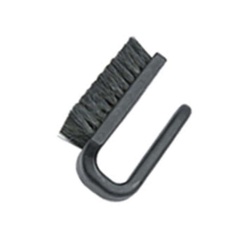 """ESD-Safe Brush 3"""" x 1.5"""" Conductive Fibers with Polypropylene Curved Handle, 3.95""""L"""
