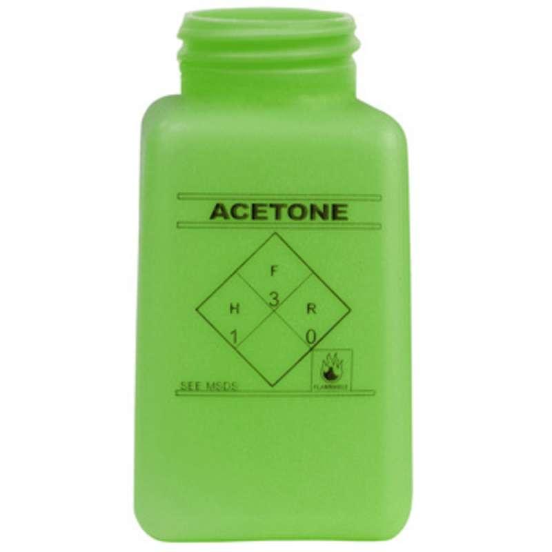 ESD-Safe Green durAstatic™ Acetone Solvent Dispenser Bottle without Lid, 6 oz