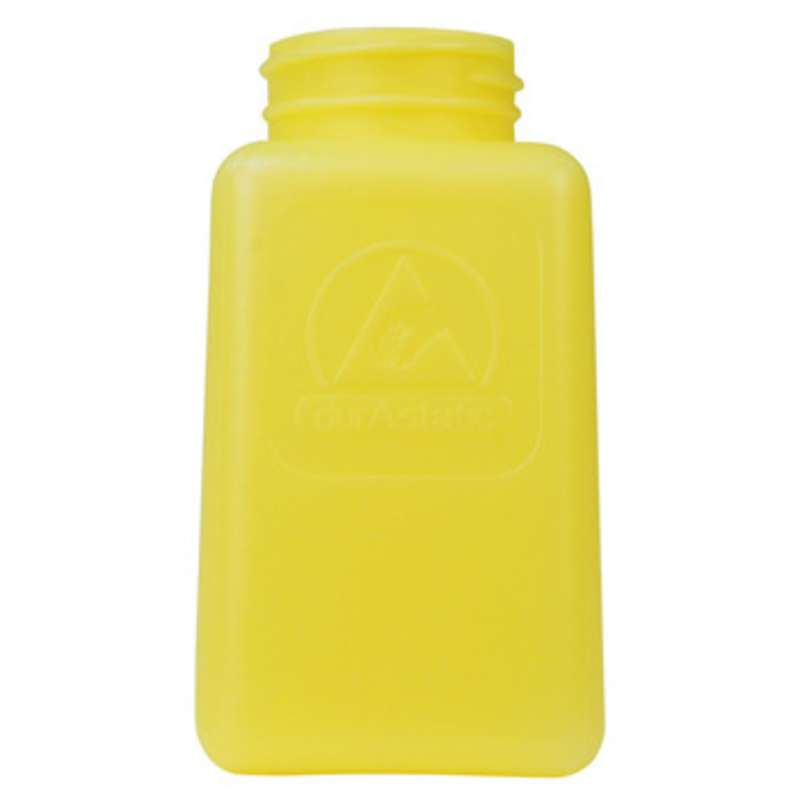 ESD-Safe Yellow durAstatic™ Solvent Dispenser Bottle without Pump Top, 6 oz