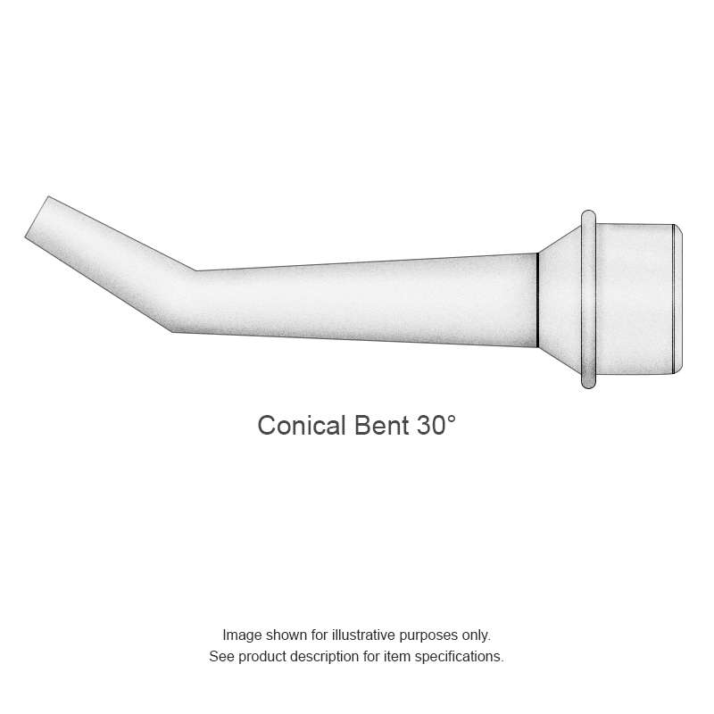SMTC 800 Series 30° Bent Micro-Fine Conical Rework Tip Solder Cartridge for MX Series Systems, 0.51mm