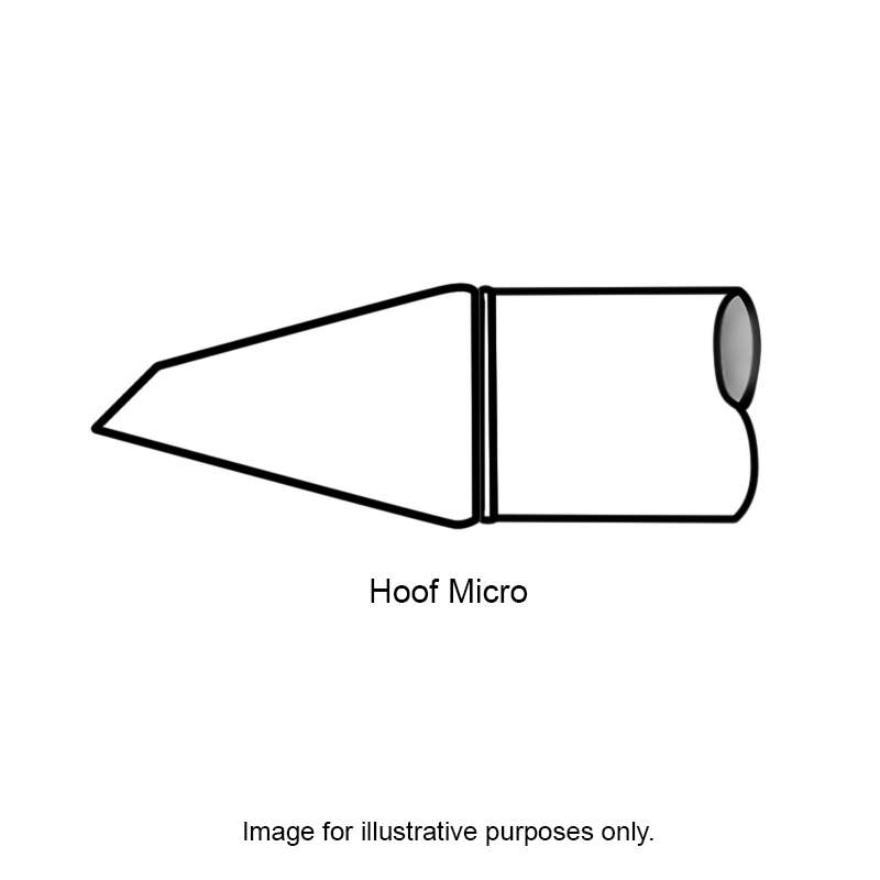 SMTC 800 Series Long Reach Micro Hoof Rework Tip Solder Cartridge for MX Series Systems, .89mm