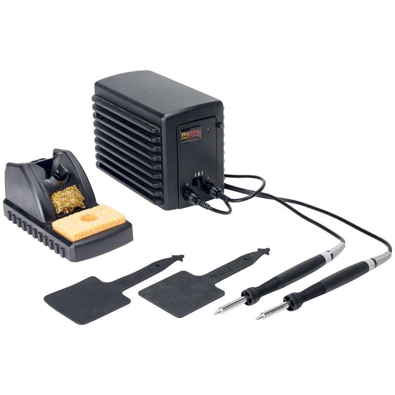 MFR 2200 Series Dual Output Rework System with Two MFR-H2-ST Soldering Hand-Pieces and Workstands