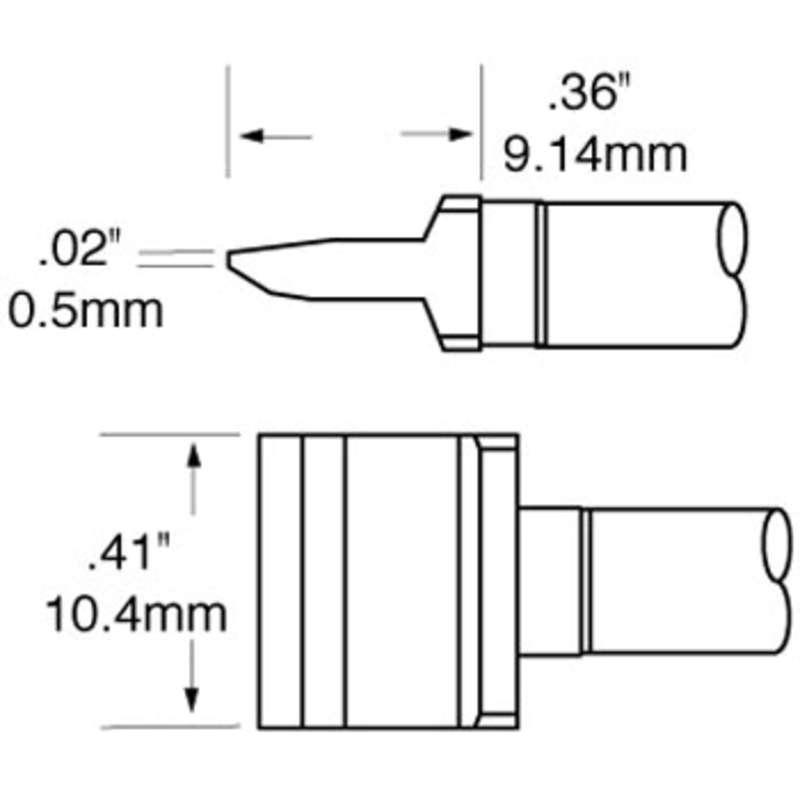 Ceramic Rework Blade Cartridge, RCP Series for MFR-HSR Iron, 10.00mm