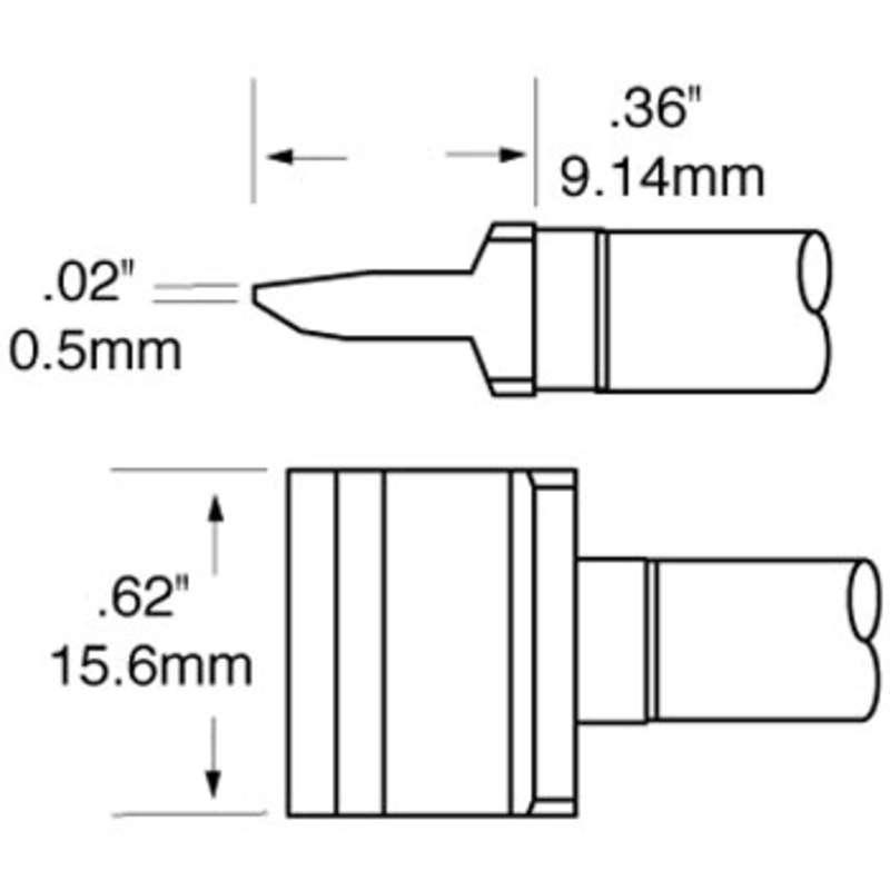Ceramic Rework Blade Cartridge, RCP Series for MFR-HSR Iron, 16.00mm