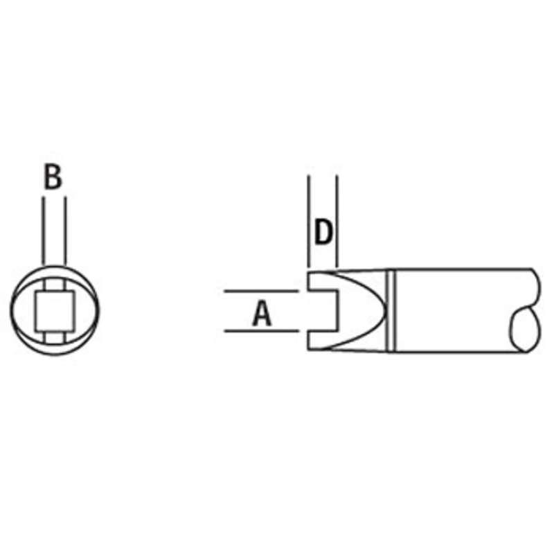SMTC 500 Series Slot Tip Solder Cartridge, Melf, Box B (EIA SOPM-4532)
