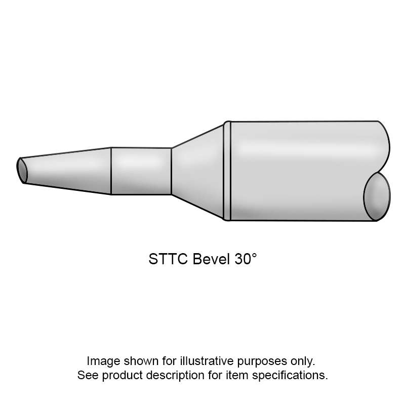 STTC 600 Series 30° Beveled Tip Solder Cartridge for MX Series Systems, 1.78mm
