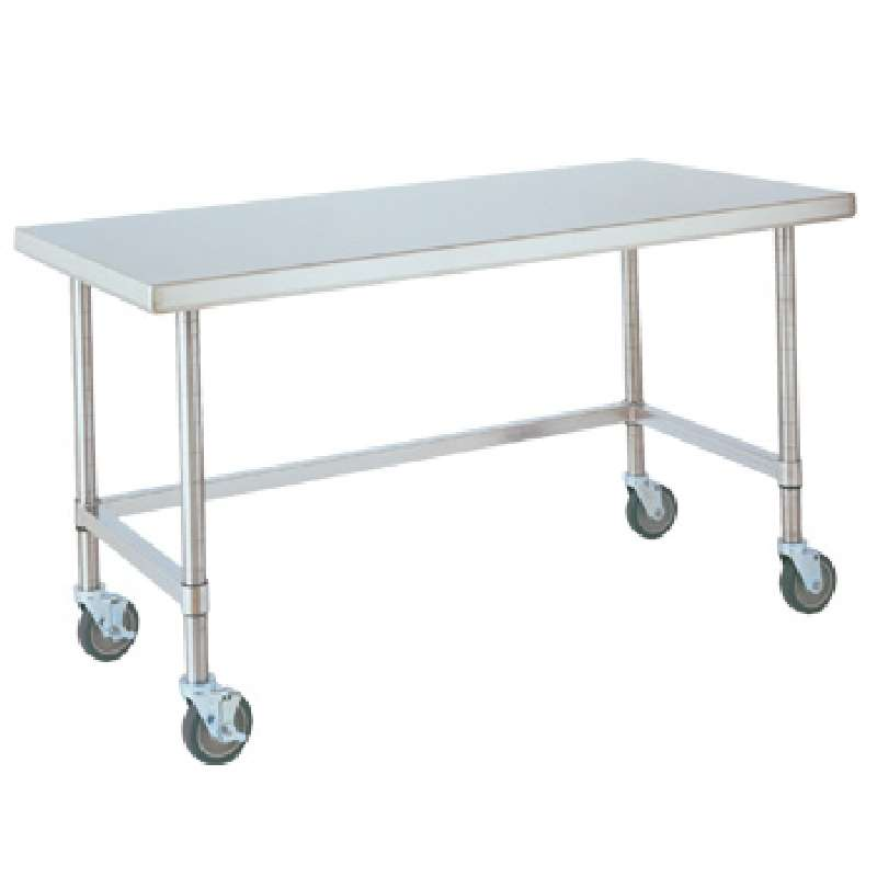 """Metro HD Super Stainless Steel Mobile Worktable with Stainless Bottom Shelf, 30"""" x 60"""" x 34"""""""