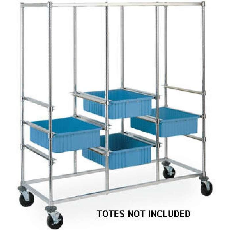 Cart Tote Box Carrier 3-Bay Metro