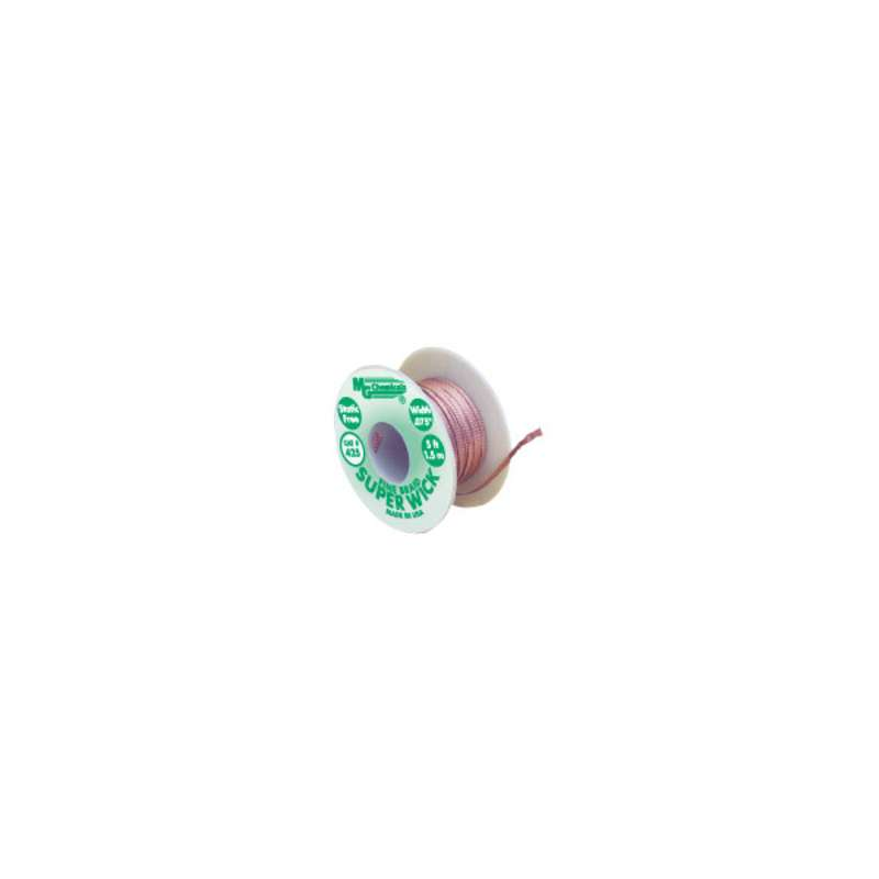 "Super Wick™ Desoldering Braid, 0.075"" x 5', #3, Green ESD-Safe Spool"