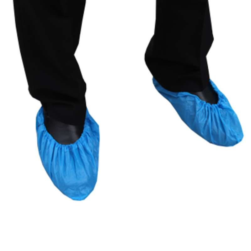 Cleanroom Disposable Shoe Cover, Blue, Large, 300 per Case