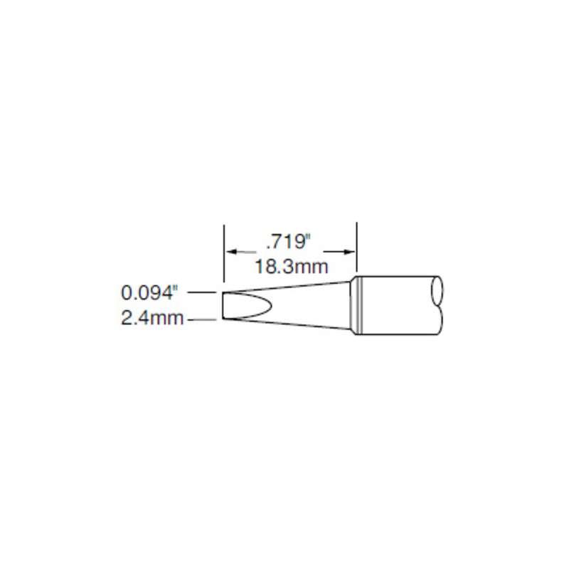 Soldering Tip, Easy Access 2.4mm