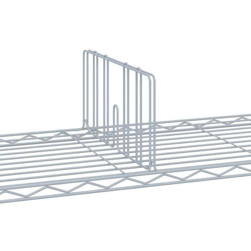 "Commercial Grade Chromate Finish Wire Shelf Divider, 8 x 24"""