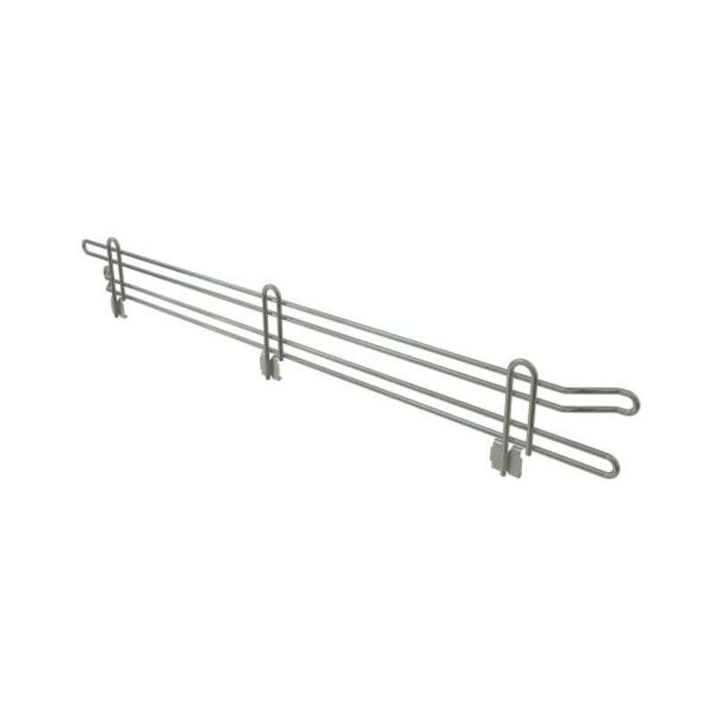"Commercial Grade Chromate Finish Wire Shelf Ledge, 4""H x 48""L"