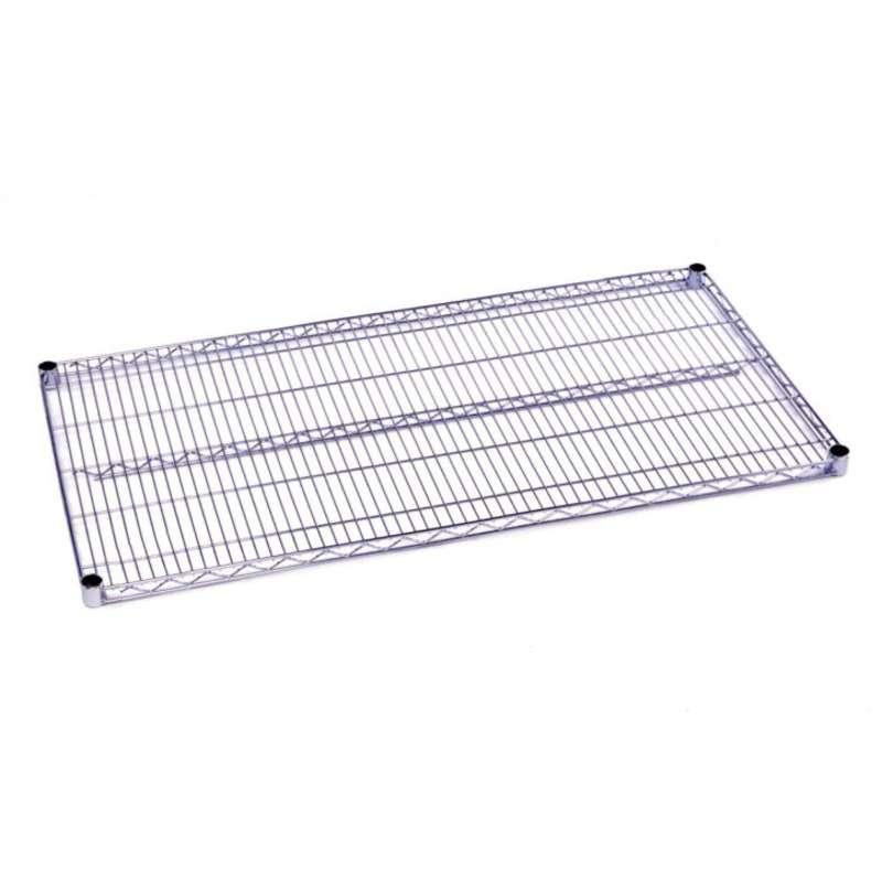 "Commercial Grade Chromate Finish Wire Shelf, 21 x 54"""