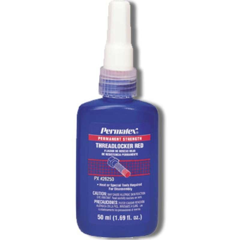 High Permanent Strength Red Threadlocker, 50 ml Bottle