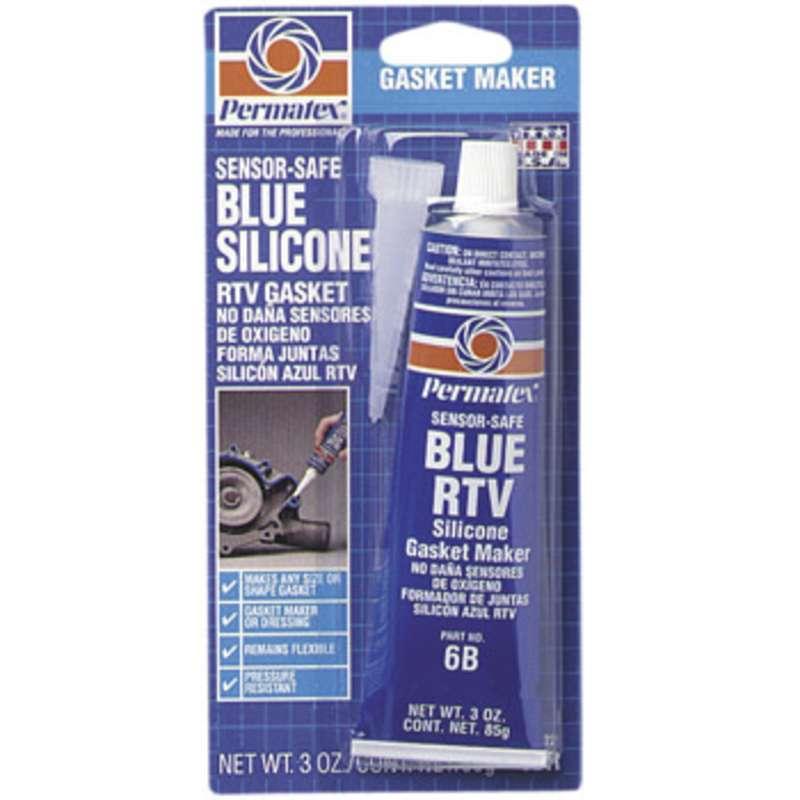 Sensor-Safe Blue RTV Silicone Gasket Maker, 3 oz. Tube