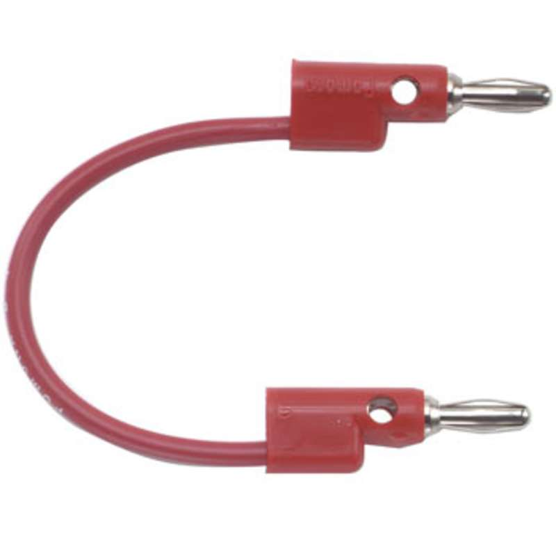 """Multi-Stacking Banana Plug Patch Cord, 24"""", Red"""
