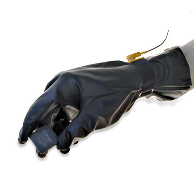 PolyTuff® Polyurethane 4 mil ESD Glove, Class 100, Black, Large, 10 Bags/Case