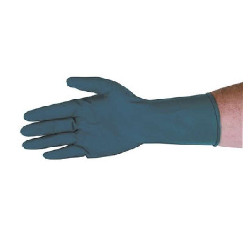 """Qualatex® Miracle Grip™ High Risk 13mil Blue Powder-Free Latex Gloves, Small, 9"""" Long, 50 per Package"""