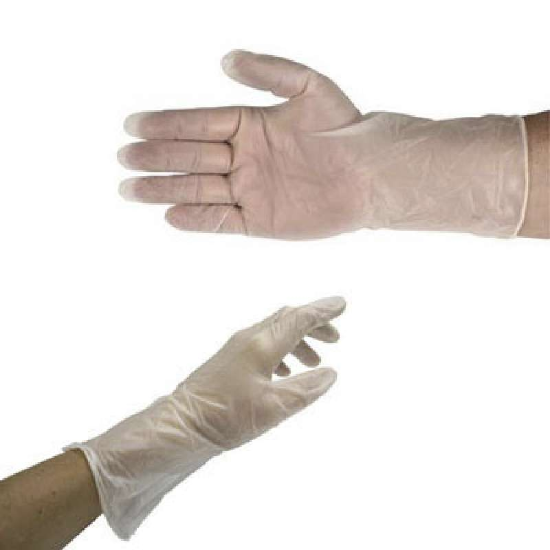 """ESD-Safe QualaSheer® XC 6mil Clear Powder-Free Vinyl Cleanroom Gloves, Large, 12"""" Long, 100 per Package"""