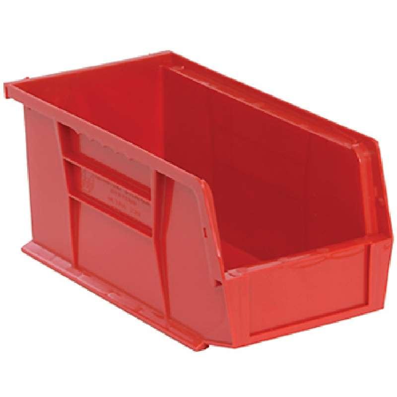 Q-Peg Bin Kit, Red, 10-1/4 x 4-3/8 x 4-3/4in, 12 Bins and Pegboard Clips