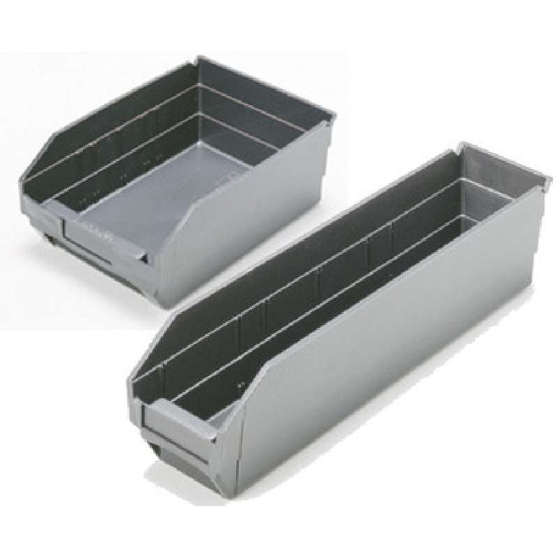 4in Economy Shelf Bin 11-5/8in x 2-3/4in x 4in, Black Conductive, 36 per Case