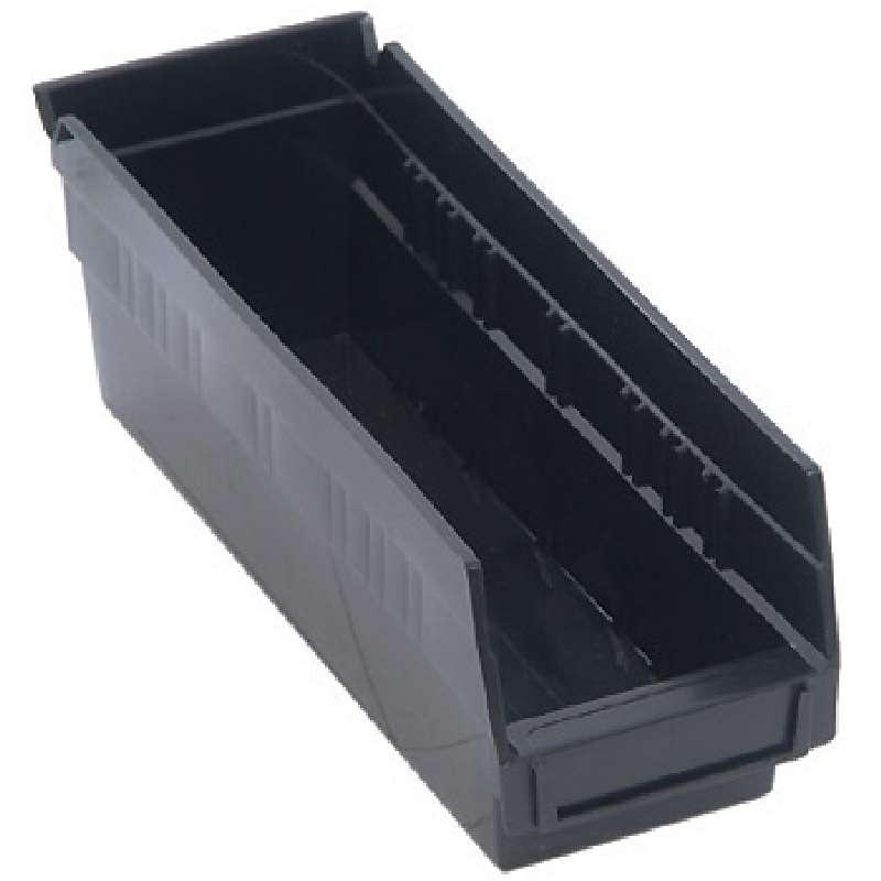4in Economy Shelf Bin 11-5/8in x 4-1/8in x 4in, Recycled Black, 36 per Case