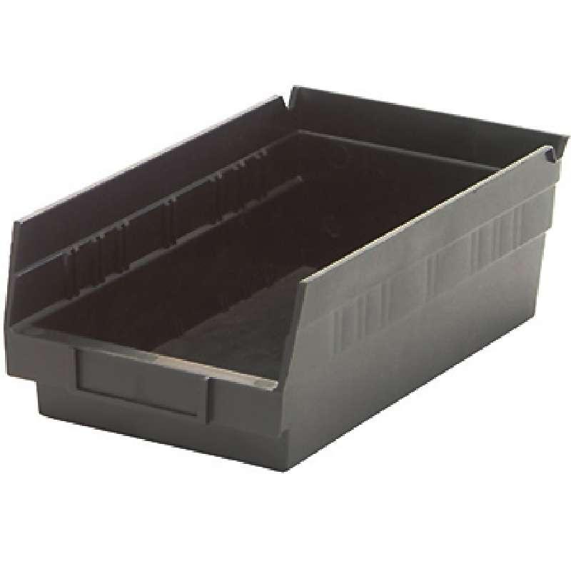 4in Economy Shelf Bin 11-5/8in x 6-5/8in x 4in, Recycled Black, 30 per Case
