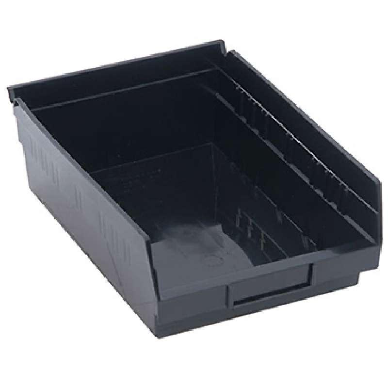 4in Economy Shelf Bin 11-5/8in x 8-3/8in x 4in, Recycled Black, 20 per Case