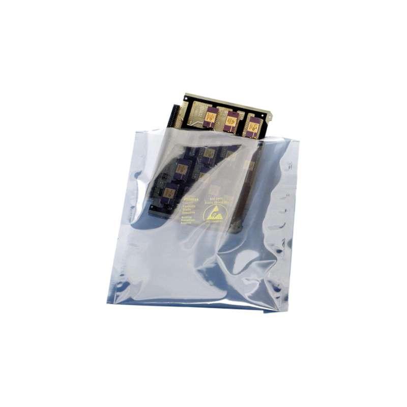 """1000 Series 2.8mil Zip Top Metal-In Static Shielding Bag, 20 x 24"""", 100 per Package"""