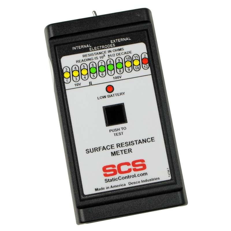 Surface Resistance Meter for Resistance to Ground Measurements