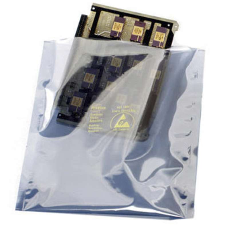 """Open-Top Static Shielding Bags, 2 x 3"""", 2.8mil, 100 per Package"""