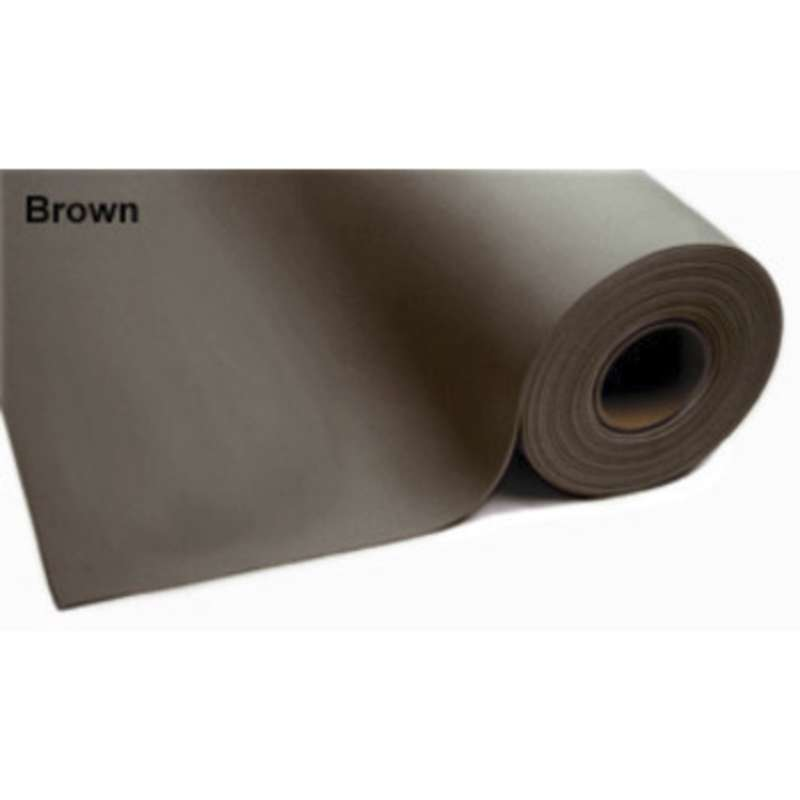 """8200 Series 3-Layer Dissipative Vinyl Matting Roll with No Hardware, 3 x 50', .140"""" Thick, Brown"""