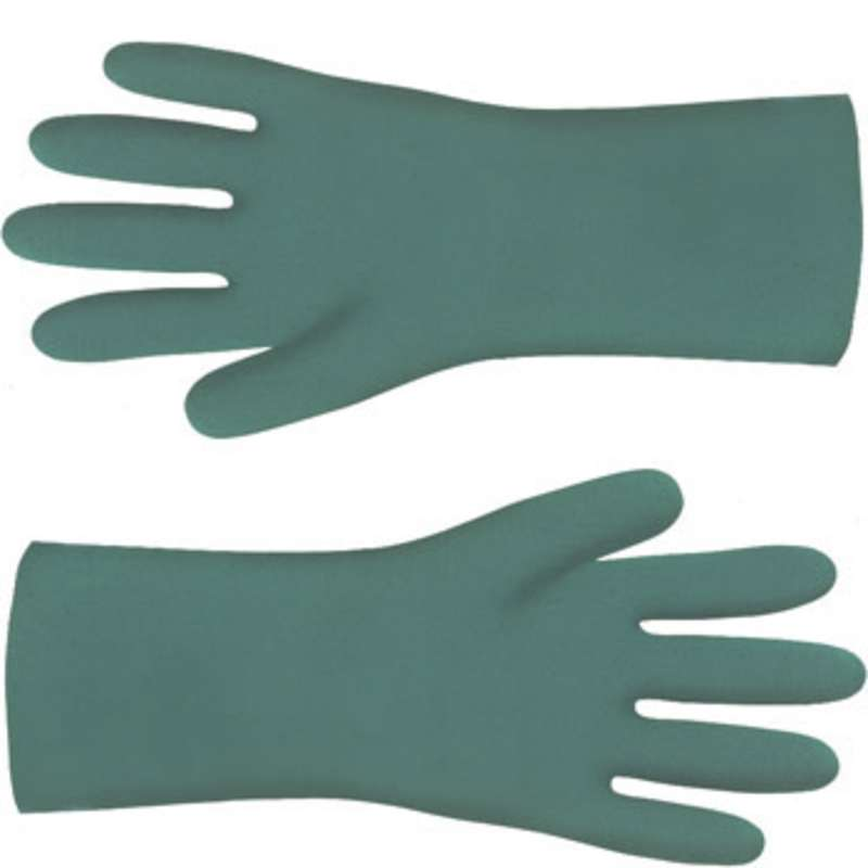 """ESD-Safe Nitri-Solve® 15mil Unlined Teal Chemical Resistant Gloves, Large, 13"""" Long, 12 Pair per Pack"""