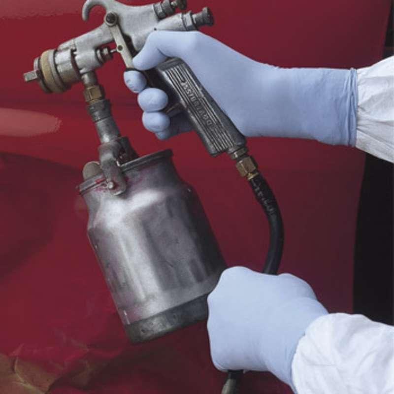 "ESD-Safe N-DEX® Plus 8mil Blue Lightly Powdered Nitrile Gloves, X-Large, 9-1/2"" Long, 50 per Pack"