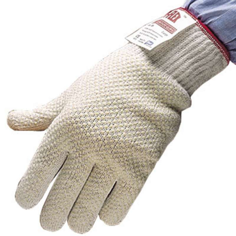 D-Flex® Level 4 Cut Resistant White Light Weight Knit Glove, 1 Glove, Large