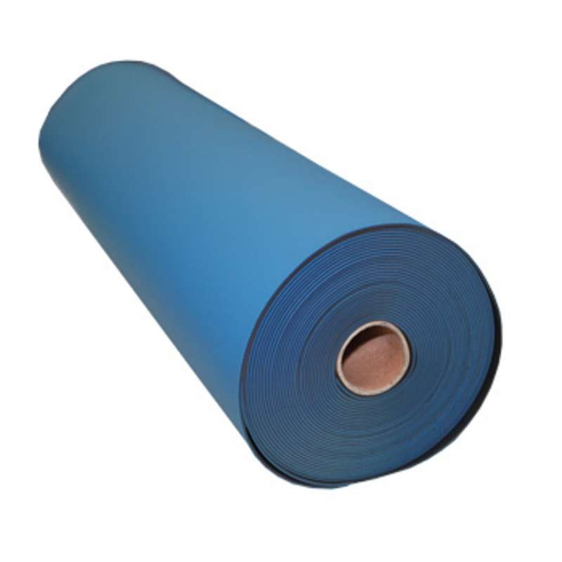 """FS Series 2-Layer Diss/Cond Smooth Econo Rubber Work Top Mat Roll, Blue/Black, 24"""" x 40' x .080"""