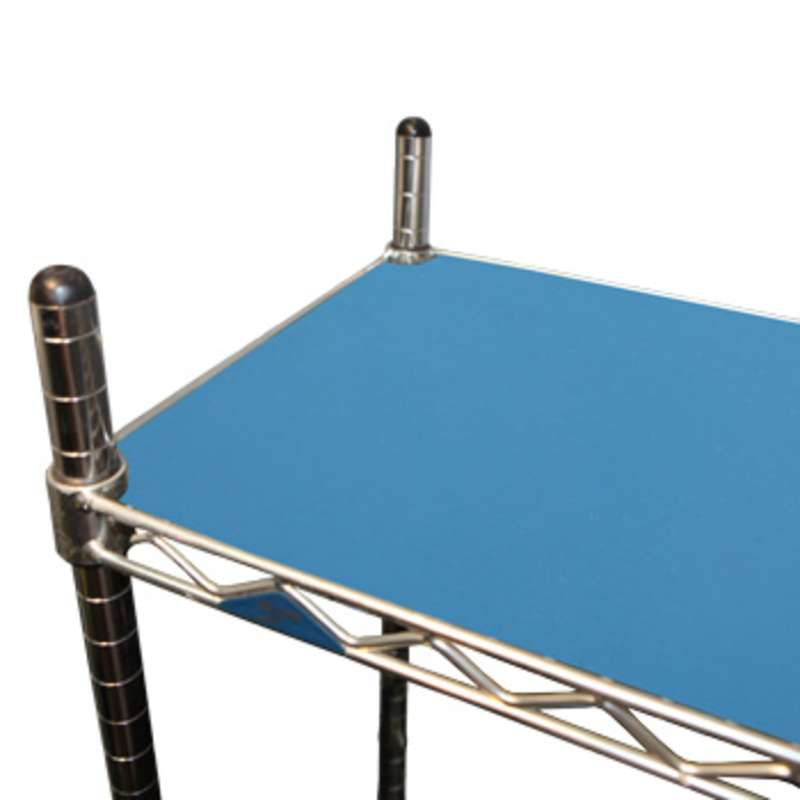 """FS Series 2-Layer Diss/Cond Smooth Econo Rubber Shelf Inlay for Shelf Size 18 x 24"""", Blue"""
