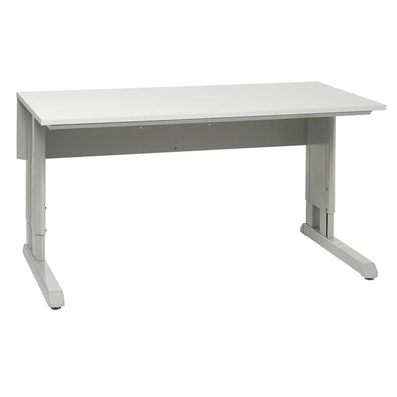 """Concept™ Series Non-ESD Manual Work Table Frame With Grey Laminate Work Surface 30""""D x 60""""W"""