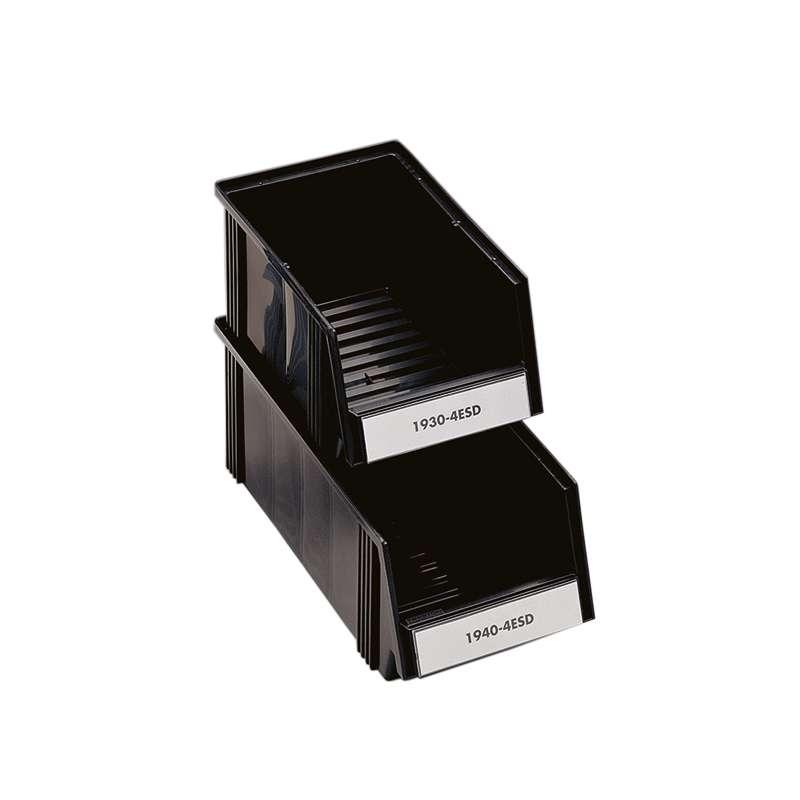 "ESD-Safe Polypropylene Treston® Stacking Bin, 15.74""D x 7.32""W x 6.14""H, Case of 24 Bins"
