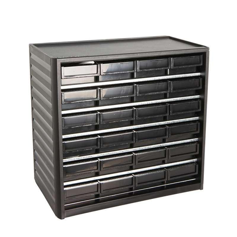"ESD-Safe Treston® Small Parts Storage Cabinet, 24 Drawers, 7.08""D x 12.2""W x 11.41""H"