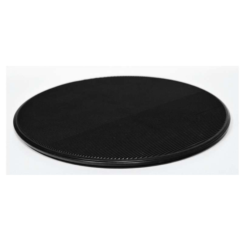 """ESD-Safe Dissipative Circular Turntable With Black Grooved Surface, 15"""" Diameter"""