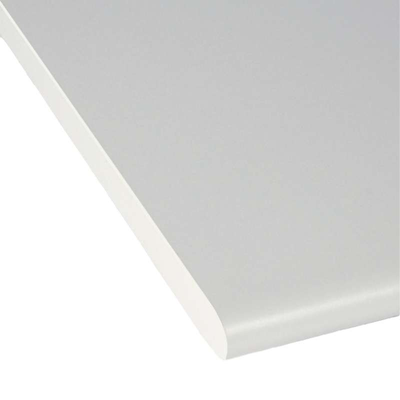 "Cornerstone™, Non-ESD Laminate Postformed Worksurface W/180 Degree Front Comfort Edge, 30""D x 72""W, Grey"