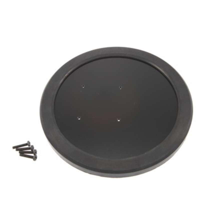 """Weighted Table Base with 7-3/4"""" Footprint for Sunnex Square Base Lights, Black"""